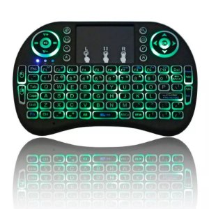 Mini Teclado Led Air Mouse Touch Sem Fio Wireless