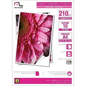 Matte Paper Adesivo C/210 Gr Tam. A4 C/ 10 Fls - Pe007