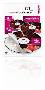 Glossy Paper Etiqueta Tam. A4 C/ 10 Fls Multilaser - PE004