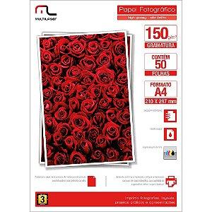 Glossy Paper C/150 Gr Tam. A4 C/ 50 Fls Multilaser - PE003