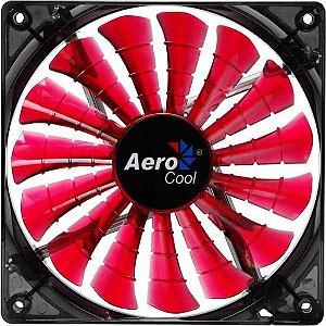 Cooler Fan 12cm SHARK DEVIL RED EDITION LED EN55437 Vermelho