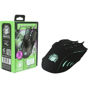 Mouse Gamer Palm Grip Nemesis 6 Botões Usb Led 2400dpi