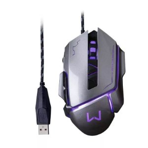 Mouse Gamer 3200 DPI Grafite Usb Warrior - MO262