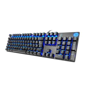 TECLADO GAMER USB MECÂNICO SWITCH BLUE GK400F LED AZUL PRET
