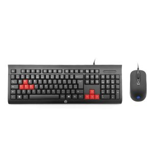 KIT TECLADO E MOUSE GAMER KM100 PRETO