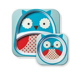 Kit Prato e Tigela Infantil Zoo Coruja - Skip Hop