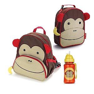 Kit Mochila Lancheira e Garrafinha Zoo Macaco - Skip Hop