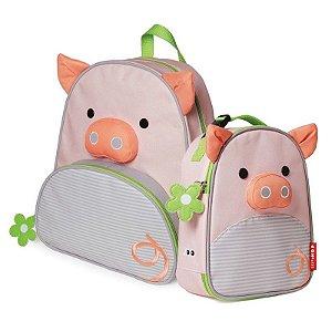 Mochila e Lancheira Infantil Escolar Zoo Porca - Skip Hop