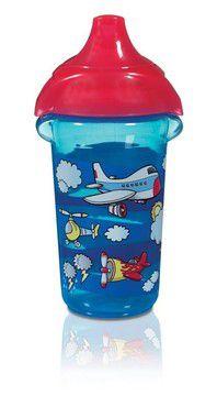 Copo com Bico Sippy Azul Avião 266ml Munchkin