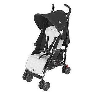 Carrinho de Bebê Quest Black e Silver Maclaren