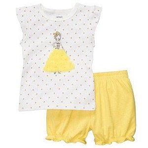 Conjunto Amarelo e Branco Menina Carter's
