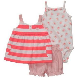 Conjunto Rosa e Branco Pintinhos Carter's