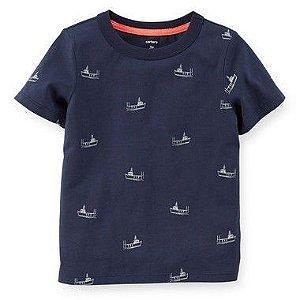 Camiseta Azul Barco Carter's