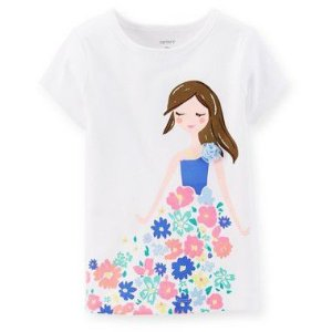 Camiseta Branco Menina Carter's