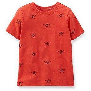 Camiseta Laranja Baseball Carter's