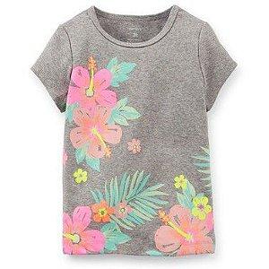 Camiseta Cinza Flores Carter's