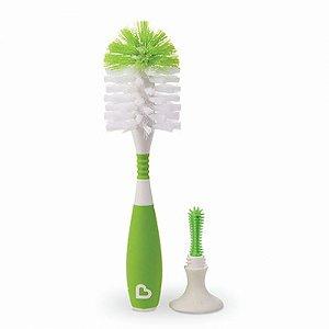 Escova de Mamadeira com Ventosa e Cabo Flexível Verde Munchkin