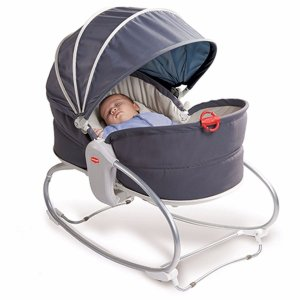 Cadeira de Balanço Cozy Rocker Napper Grey Tiny Love