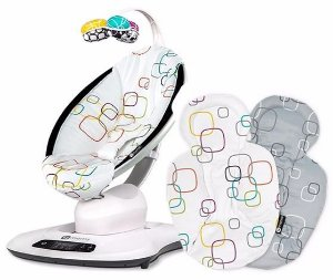 Cadeira de Descanso MAMAROO 4.0 Multi Color Plush + Almofada RN 4Moms
