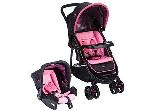 Carrinho de Bebê Travel System Nexus Rosa Cosco