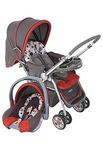 Carrinho de Bebê Travel System Reverse Vermelho Cosco