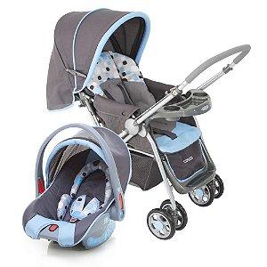 Carrinho de Bebê Travel System Reverse Azul Cosco