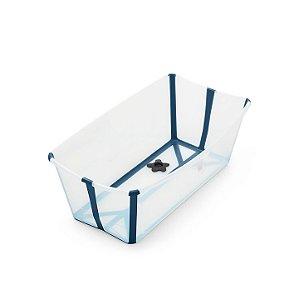 Banheira Dobrável Flexi Bath Transparente Azul Escuro Stokke