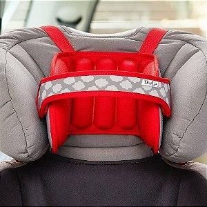 Apoio de Cabeça Infantil Para Assento de Carro Vermelho - Napup