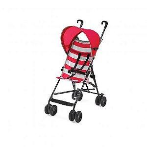 Carrinho de Bebê Guarda-Chuva Navy Vermelho Multikids