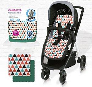 Almofada para Carrinho De Bebê Comfi Cush Triângulos Clingo