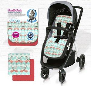 Almofada para Carrinho De Bebê Comfi Cush Flamingo Clingo
