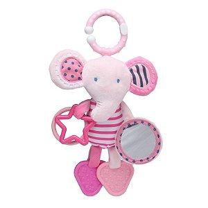 Móbile de Atividades de Pendurar Elefante Rosa - Storki