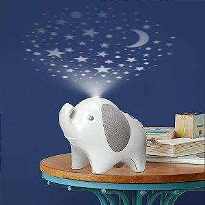 Abajur Infantil com Projetor Elefante Moonlight e Melodies - Skip Hop