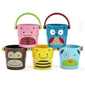 Brinquedo Para Banho do Bebê Conjunto de Baldinhos Zoo - Skip Hop