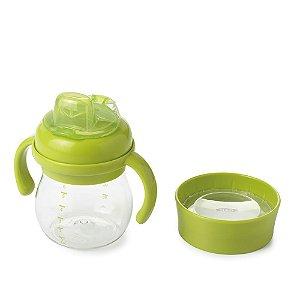 Copo de Transição com Alça e Bico de Silicone Infantil 2 em 1 Verde - Oxo Tot