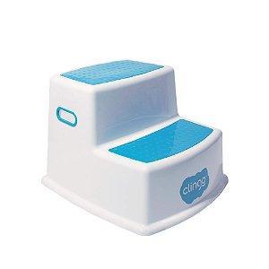 Banquinho Infantil Com Dois Degraus Azul - Clingo