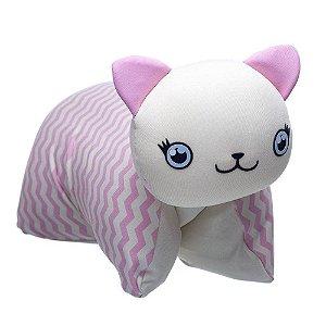 Travesseiro Infantil Bichinho Gatinha Ágata - Baby Pil