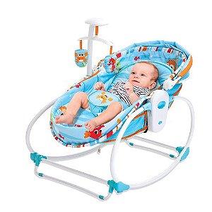 Cadeira De Descanso Moisés 5 Em 1 Mar Azul - Mastela