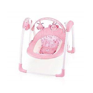 Cadeira de Balanço Automática Com Timer Rosa Animais - Mastela