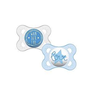 Chupeta Mam Sayings Duas Unidades Azul (0-6m) - Mam Baby