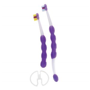 Kit Escova Dental Infantil Learn to Brush Roxo - Mam Baby