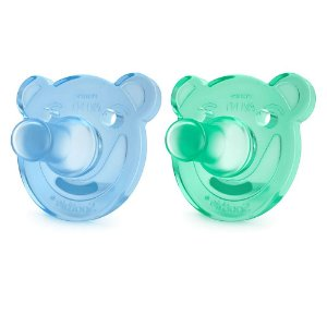 Chupeta de Silicone Soothie Dupla Azul e Verde (0-3m) - Philips AVENT