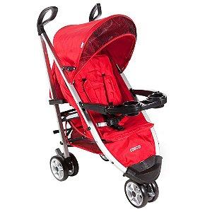 Carrinho de Bebê Umbrella Deluxe Com 3 Rodas Vermelho - Cosco