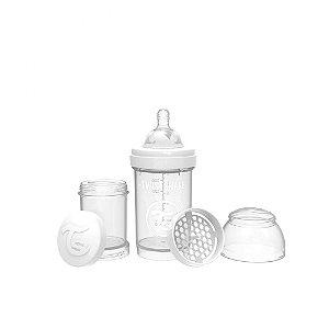 Mamadeira Anti-Cólica 180ml Branca (0m+) - Twistshake