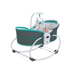 Cadeira De Descanso Moisés 5 Em 1 Cinza e Azul - Mastela