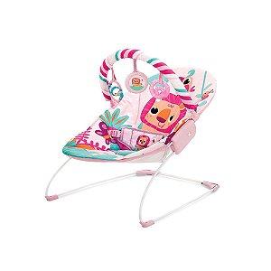 Cadeira de Descanso Infantil Musical e Vibratória Rosa Selva - Mastela