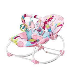 Cadeira de Descanso Infantil Rocker Girafa Rosa - Mastela