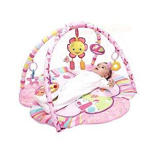 Tapete de Atividades Infantil Rosa Flor Animais - Mastela