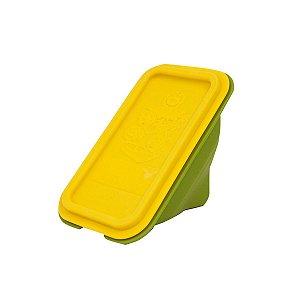 Porta Sanduíche Em Silicone Infantil Amarelo Lola - Marcus & Marcus
