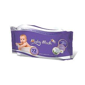 Lenços Umedecidos c/72 - Baby Bath